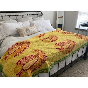 Anthropologie Reversible Quilt Queen/full